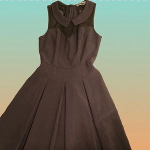 MODCLOTH Gray Collared Fit And Flare